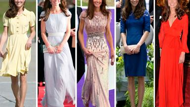 Kate Middleton: A year in dresses