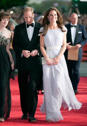 Kate wore Alexander McQueen at a BAFTA gala in Los Angeles in July 2011.
