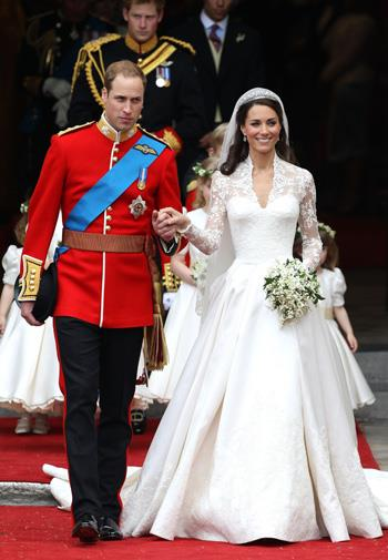Kate's famous Alexander McQueen wedding gown.