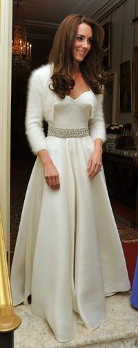Kate's Alexander McQueen wedding reception dress.