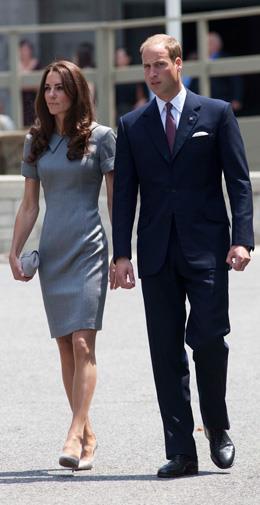 Kate in Catherine Walker in Canada in July 2011.