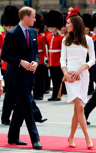 Kate recycles her Reiss engagement portrait dress in Canada in July 2011.