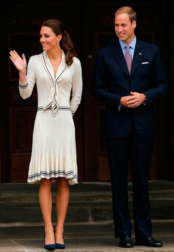 Kate in Alexander McQueen in July 2011.