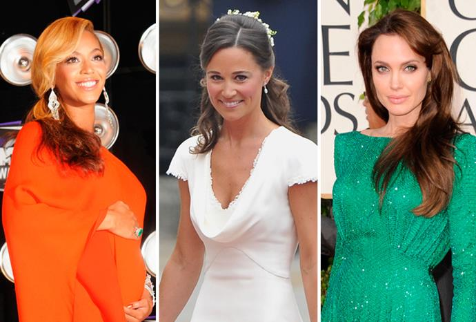 Beyonce Knowles, Pippa Middleton and Angelina Jolie