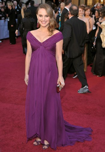 A pregnant Natalie Portman in Rodarte at the Oscars in February.
