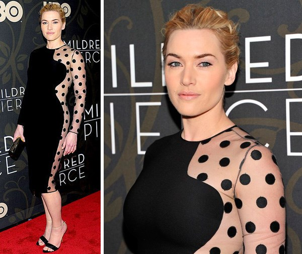 Kate Winslet in Stella McCartney at the premiere of *Mildred Pierce* in October.
