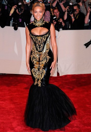 Beyonce Knowles in Alexander McQueen at the Costume Institute Gala in May.