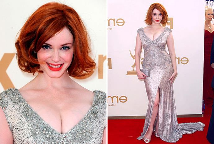 Christina Hendricks in Johanna Johnson at the Emmys in September.