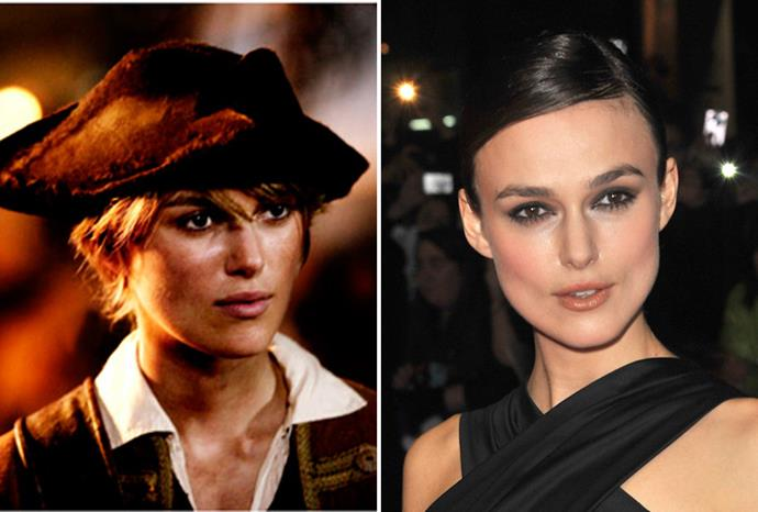 Keira Knightley disguised herself as a man in *Pirates of the Caribbean*.
