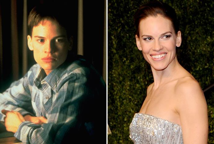 Hilary Swank played a transgender man in *Boys Don't Cry*.