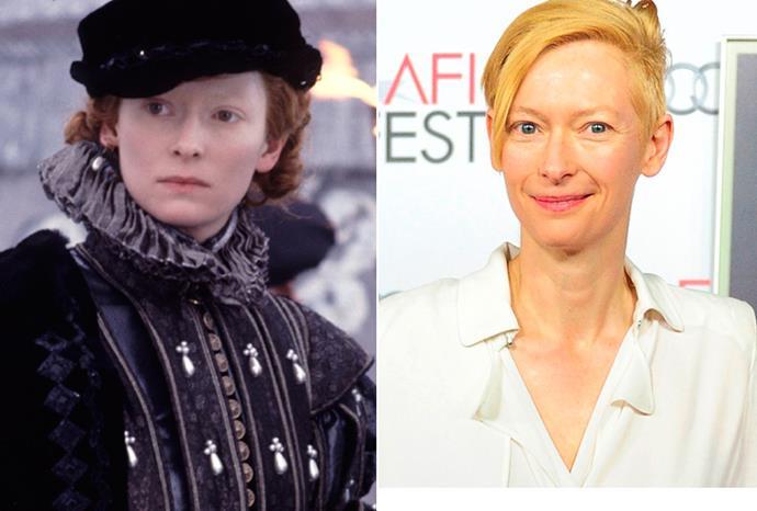 Tilda Swinton played a young nobleman in *Orlando*.