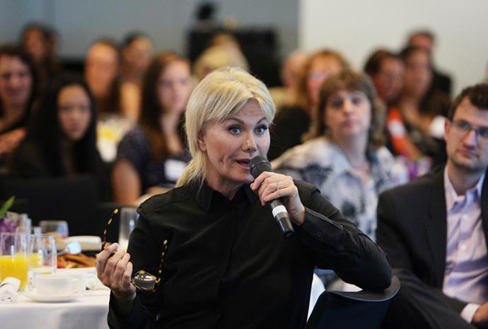Deborra-lee spoke passionately about adoption at the event.