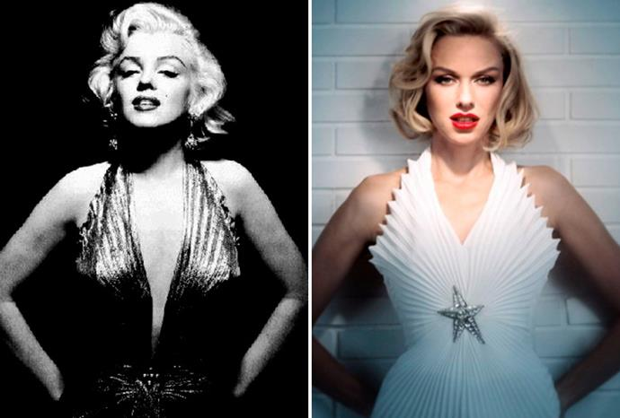 Naomi Watts (r) as Marilyn (l) in upcoming biopic *Blonde*.