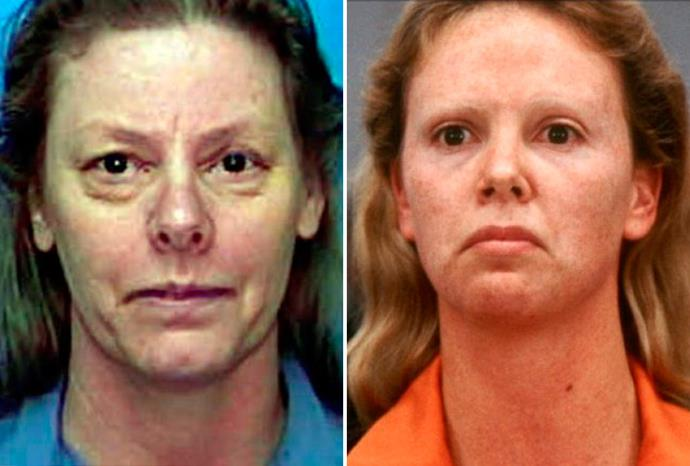 Charlize Theron (r) won an Oscar for her portrayal of Aileen Wuornos in 2003's *Monster*.