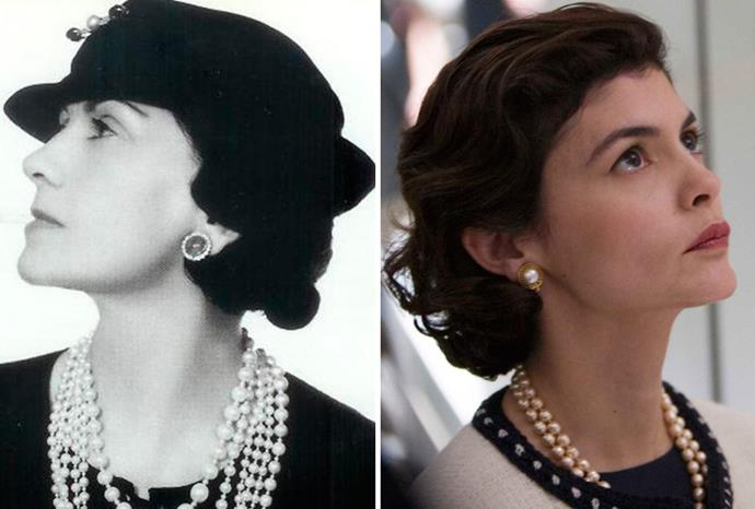 Audrey Tatou (r) was convincing as Coco Chanel (l) in *Coco before Chanel*.