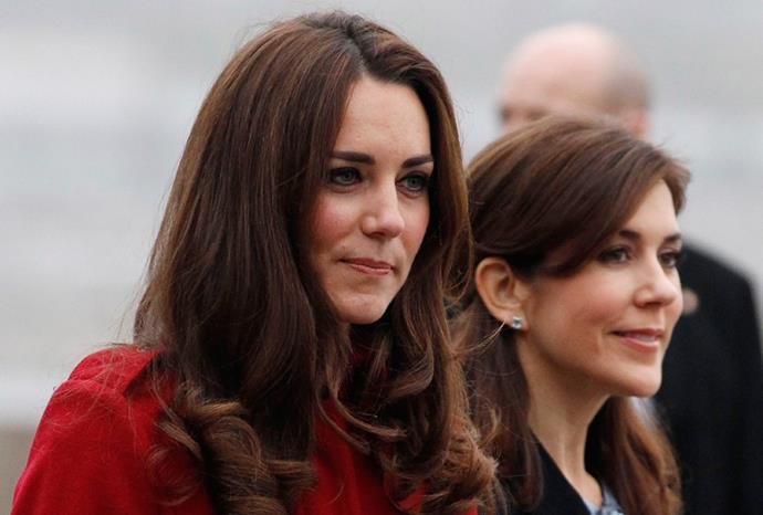 The Duchess of Cambridge and Princess Mary.