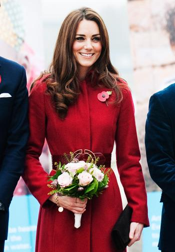 Kate looked absolutely stunning in a red coat.