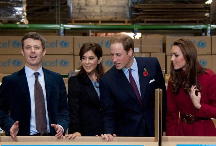 The royals enjoyed their time at the UNICEF warehouse.
