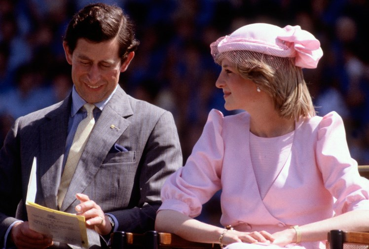 Diana and Charles share a laugh in Newcastle in 1983.