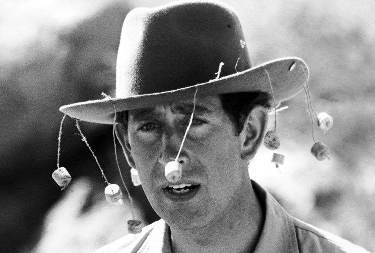 But it wasn't Charles' first visit! Here is Charles in the Western Australian outback in 1979.