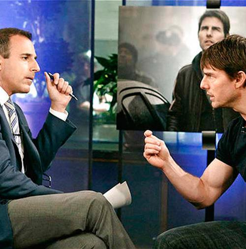 Tom later exploded when US *Today* show host Matt Lauer brought up Shields in an interview.