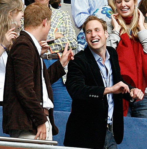 William and Harry at the Concert for Diana in London in 2007.