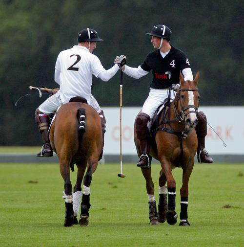 William and Harry at a charity polo match in Ascot in June.
