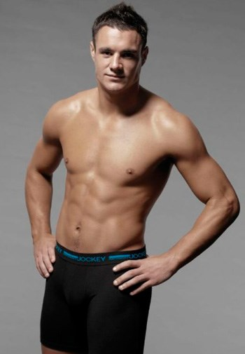 All Blacks fly-half Dan Carter in his Jockey ad campaign.