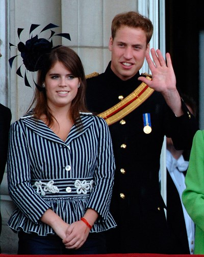 Eugenie and Prince William at the annual Trooping of the Colour in 2007.