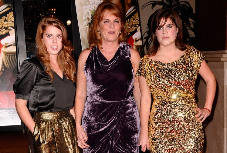 The young princess dazzled as she stepped out in a gold sequinned dress for the premiere of *The Young Victoria*, at the Pacific Theatres in Los Angeles in 2009, with her sister and mum by her side. In an interview the sisters have revealed that they even have a cute nickname for the three of them - 'The Tripod'! *(Image: Getty)*