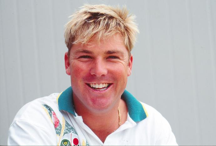 Shane at the start of his career in 1990.