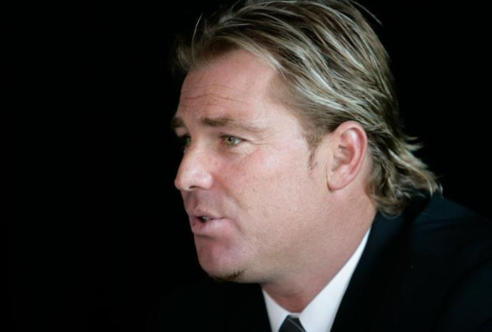 Shane at a press conference in December 2006.