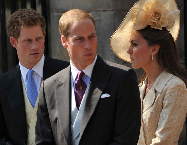 William, Harry and Kate joked and laughed amongst themselves are they waited for Zara.