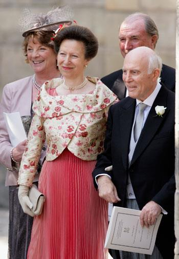 Mother of the bride Princess Anne.