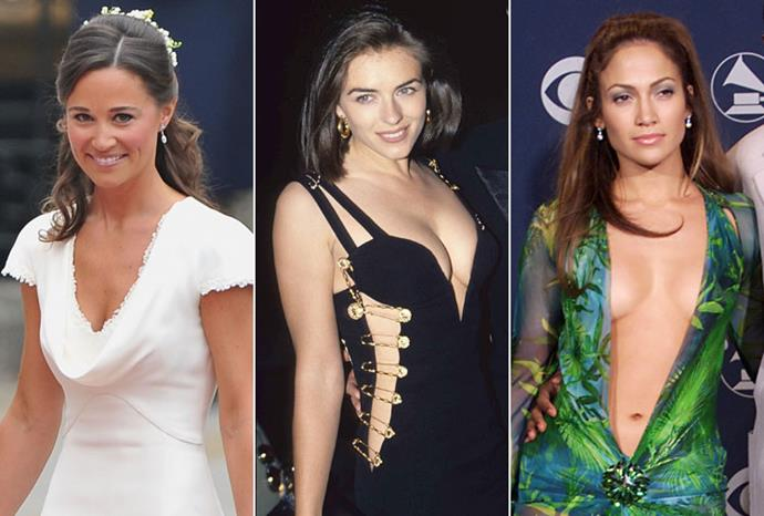 Pippa Middleton, Liz Hurley and Jennifer Lopez.