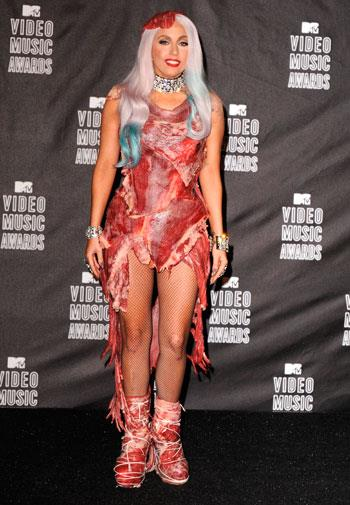This meat dress is one of Lady Gaga's most headline-grabbing outfits to date.