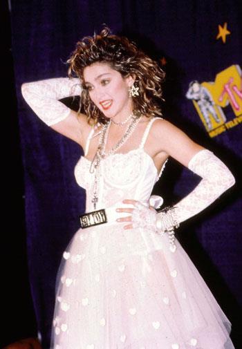 Madonna's wacky get-up at the 1984 MTV Music Awards.