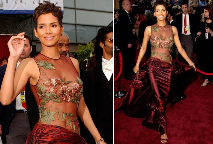 Halle Berry's sexy dress was the talk of the 2002 Oscars.
