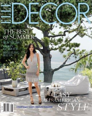 Courteney on the cover of *Elle Decor*