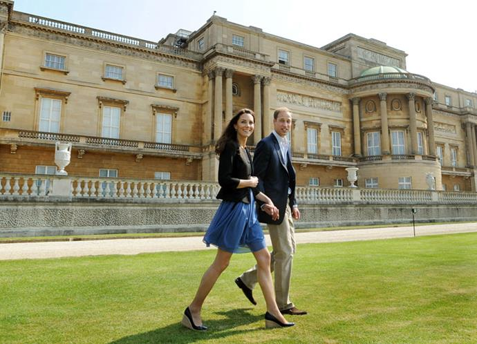 William and Catherine head to their helicopter to depart on a two-day mini honeymoon