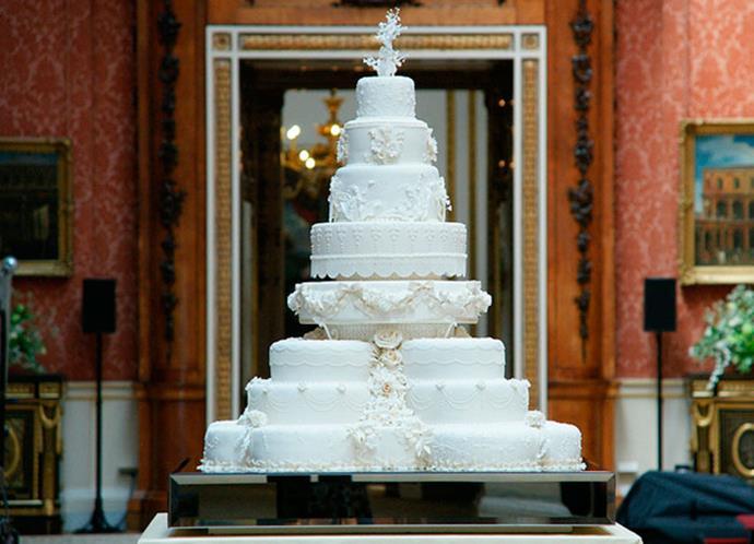 William and Catherine's eight-tier wedding cake