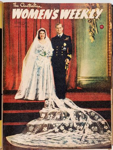 Queen Elizabeth's marriage to Prince Philip in November, 1947