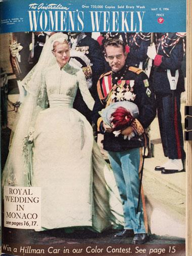 Grace Kelly's marriage to Monaco's Prince Rainier III in April, 1956