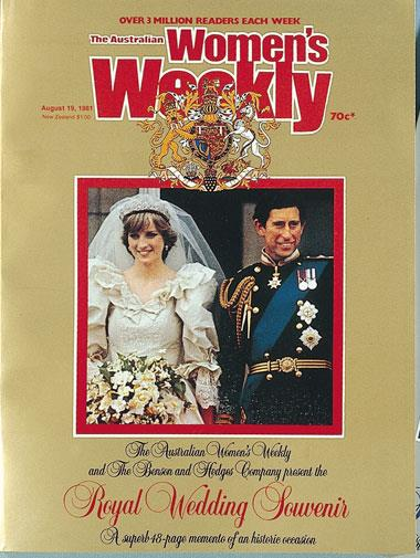 Prince Charles' marriage to Diana, Princess of Wales, in July, 1981