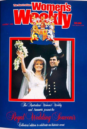 Prince Andrew's wedding to Sarah Ferguson in July, 1986