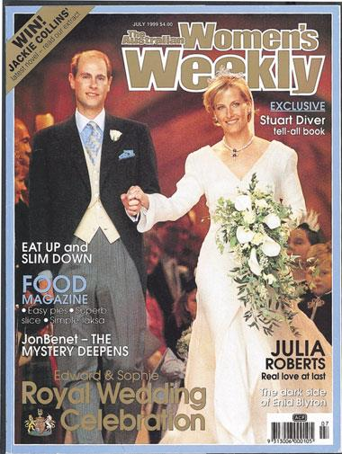 Prince Edward's marriage to Sophie Rhys-Jones in June, 1999