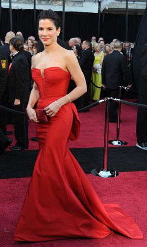 A year after her hubby was exposed as a cheat, Sandra Bullock was stunning in Vera Wang