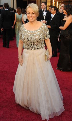 Jacki Weaver missed out on an Oscar, but looked great in this Collette Dinnigan gown