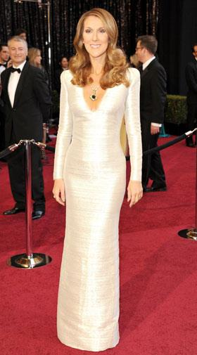 Celine Dion accentuated her slim figure in Armani Prive