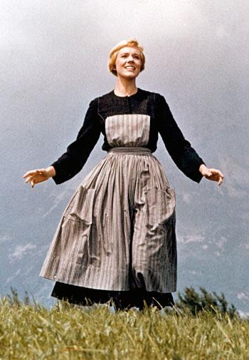 Julie Andrews in *The Sound of Music* in 1964
